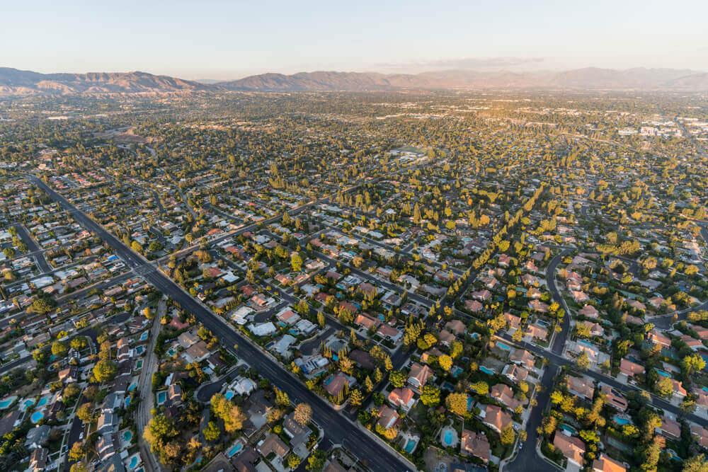 Aerial view of Northridge