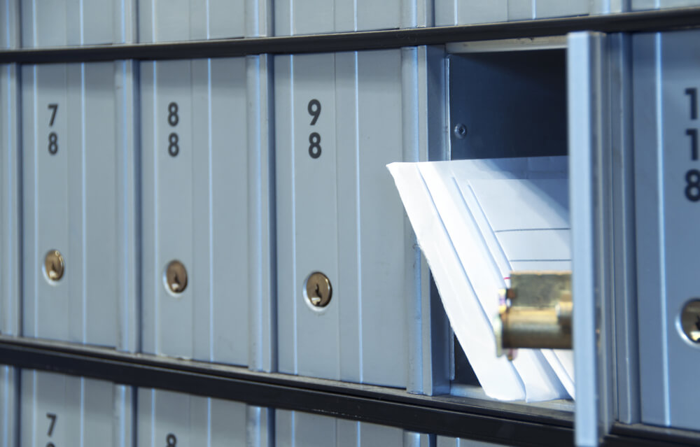 Professional mailing address at office