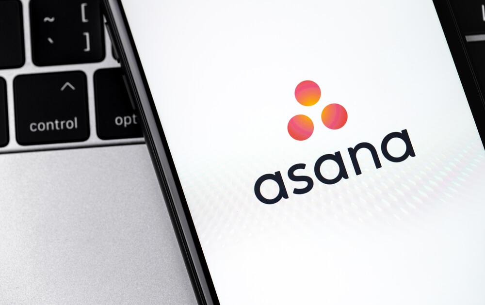 Phone screen with Asana