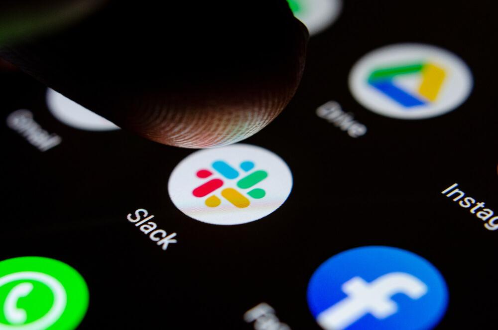 Slack icon on phone