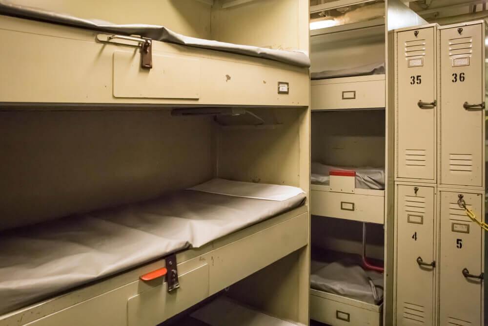 Submarine bunks
